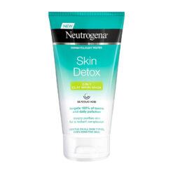 ماسک و پاک کننده صورت نوتروژینا Skin Detox حاوی خاک رس Neutrogena Skin Detox Face Mask With Clay
