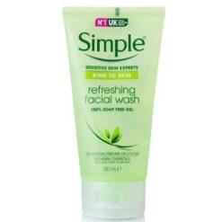 ژل شستشوی شاداب کننده سیمپل refreshing facial wash