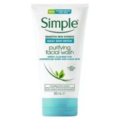 ژل شست شوی پوست چرب سیمپل purifying facial wash