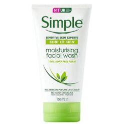 ژل شستشوی آبرسان پوست سیمپل moisturising facial wash