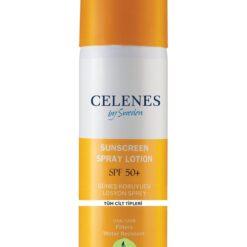 اسپری ضد آفتاب سلنس 150 میل مناسب انواع پوست celenes sunscreen spray lotion spf 50